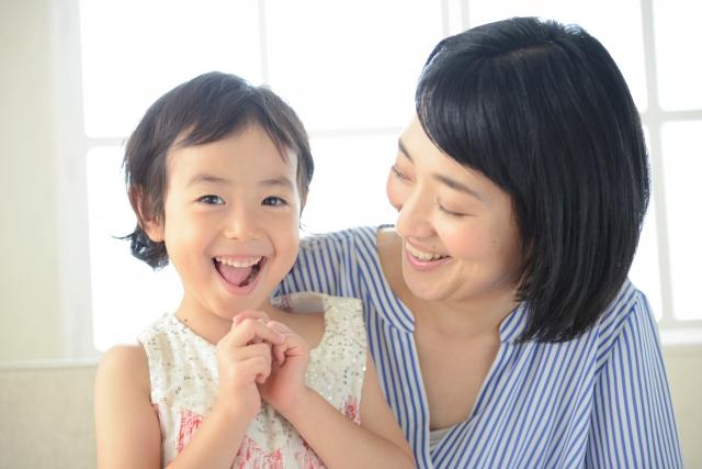 母と子の親子写真